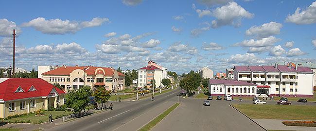 Sovetskaya Street in Krugloye