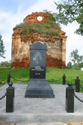 A monument to Russian General Chernyaev, the National Hero of Serbia (the village of Tubyshki)