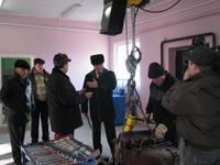 Губернатор Могилёвской области Пётр Рудник на Круглянщине 17.02.2011.